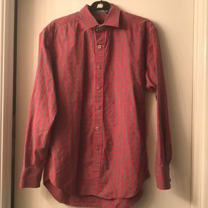 Robert Graham red and gray long sleeve button up